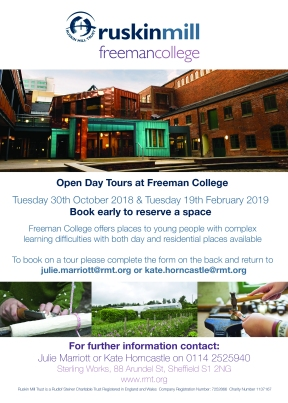 Freeman College - front open day