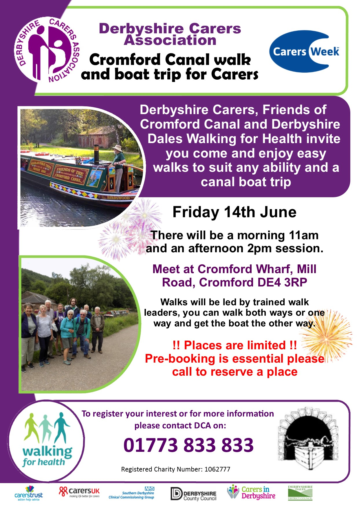 Carers week Cromford Boat and Walk 2019